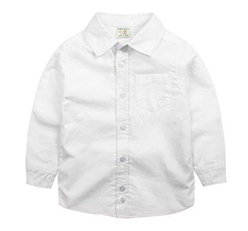 Blancho Chemise simple à manches longues pour garçon Little Gentleman - Blanc - Taille Unique