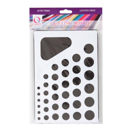 Qcraft Quilling-Papierstreifen zum Basteln, 3mm dick Rüschentafel schwarz/weiß