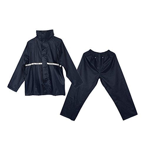 Sharplace Veste de Pluie Légère Pantalon de Pluie Imperméable Respirante pour Voyages Alpinisme Escaladee Randonné Camp Pêche - Marine, XL