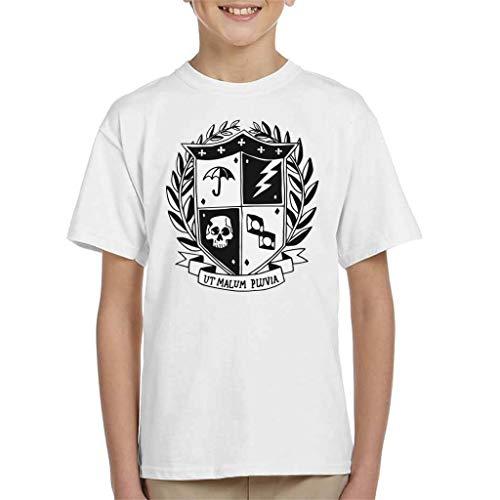 Cloud City 7 Paraplu Academie School Crest Donker T-shirt voor kinderen wit
