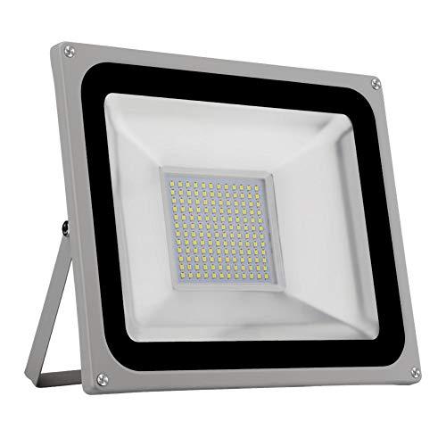 jinclonder LED Flutlicht 100W Flutlicht kaltweiß gewöhnliche 110V 2835 Lampenperlen für Basketballplatz, Fußballplatz, Garten, Garten hell und umweltfreundlich