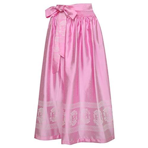 Country-Line Damen Trachten-Mode Dirndlschürze Indira in Rosa traditionell, Größe:S, Farbe:Rosa