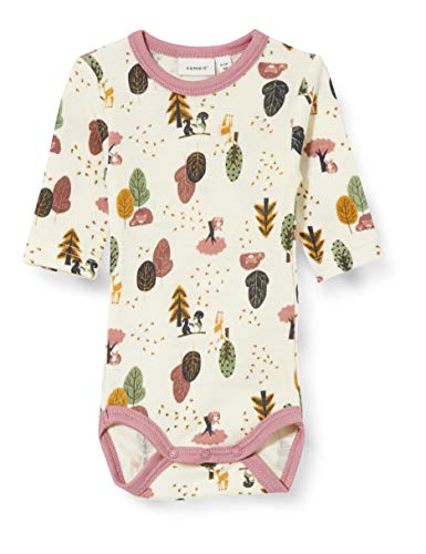 NAME IT Baby-Mädchen NBFWILLIT Wool LS NOOS XX Body, Snow White, 68