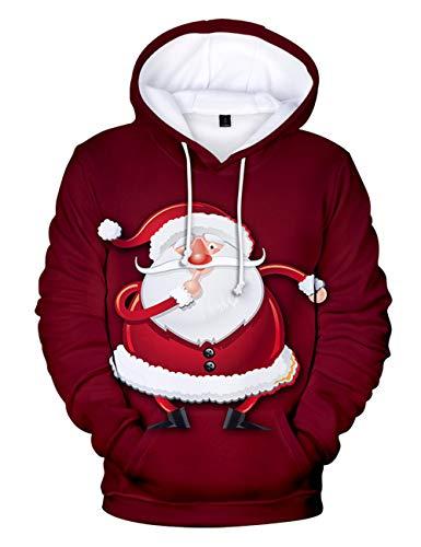 Siennaa Sudadera Navidad Mujer, Sudadera Navideña Pareja 3D Impresión Casual Navidad Ropa Sudadera Navidad Unisex...