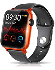 【最新Bluetooth5.0 IP68完全防水】 スマートウォッチ 活動量計 心拍計 歩数計 明度調整&天気予報 誕生日/父 母 ギフト 1.54インチ大画面 smart watch 消費カロリー 睡眠検測 超長い待機時間 着信電話通知/SMS/Twitter/Line/アプリ通知 健康サポート機器 24時間自動計測 カラースクリーン GPS運動記録 iPhone/Android対応
