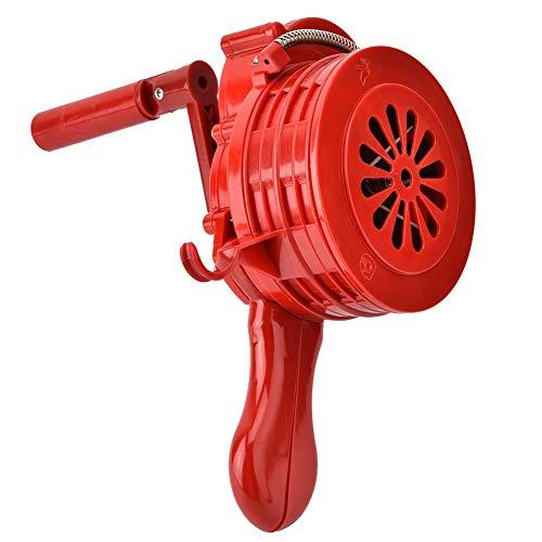 T osuny Sirena de Ataque aéreo de Mano, manivela ruidosa operada manualmente, Carcasa de Alarma de manivela ruidosa portátil Alarma de Ataque aéreo operada manualmente