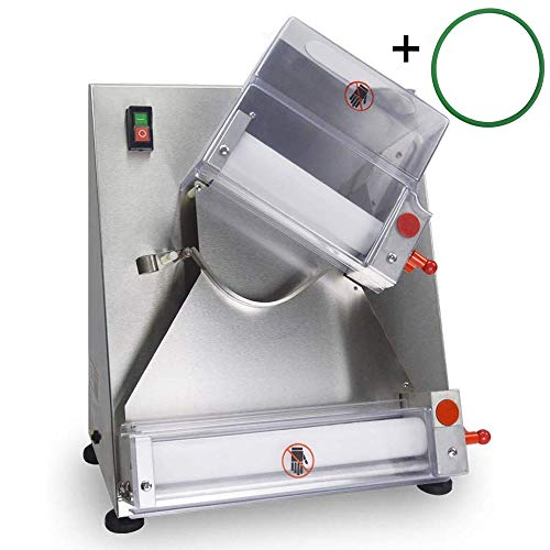 SHANGPEIXUAN Electric Dough Sheeter Automatic Pizza Dough Roller Machine,Making 3''-12''Pizza Dough,Pizza Making Machine,Noodle Bread and Pasta Preparation Equipment
