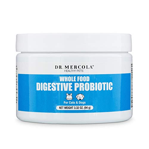 Dr. Mercola, Complete Probiotics, for Cats and Dogs, 3.17 oz (90 g), Supports Immune Function, Digestive Support, Non GMO, Soy Free, Gluten Free
