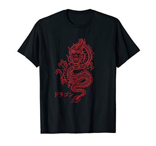 Dragon Drache mit Japanischen Schriftzeichen Kanji Aesthetic T-Shirt