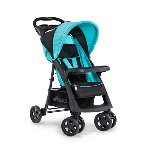 Hauck Shopper Neo II - Silla de paseo con respaldo reclinable, de 0 meses a 25 kg, plegado fácil y compacto, plegable con una mano, ligera, con botellero, negro azul
