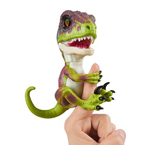 Wow Wee Fingerlings Untamed Velociraptor grün Stealth- 3782 / interaktives Spielzeug, reagiert auf Geräusche, Bewegungen und Berührungen