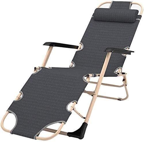 FTFTO Office Life Chaise Longue réglable Summer Garden Terrasse Chaise Longue d'extérieur Banc Pliant avec Coussin Pouf de Bureau Chaise de Chargement 200 Kg Zero Gravity Chairs