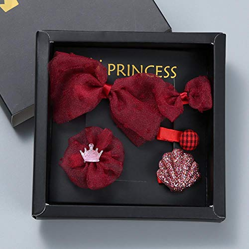 Tuotang Bébé Accessoires Cheveux, Princesse Tiara Filles Clips Cheveux, Cinq Jeux D'Enfants Haarn Cadeau,# 01