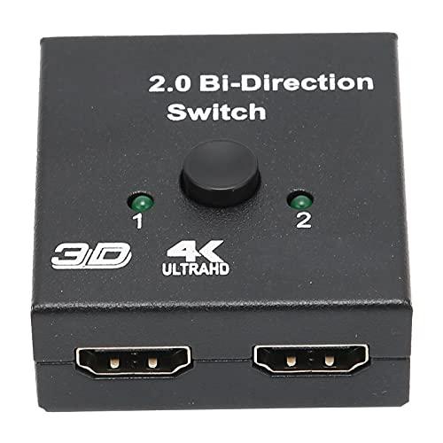 Yunseity Divisor HDMI 4K, Interruptor bidireccional Divisor de Interfaz Multimedia de Alta definición, Adaptador Divisor HDMI para Xbox PS4 Roku HDTV, Compatible con Reproductor Full HD 4K 1080P