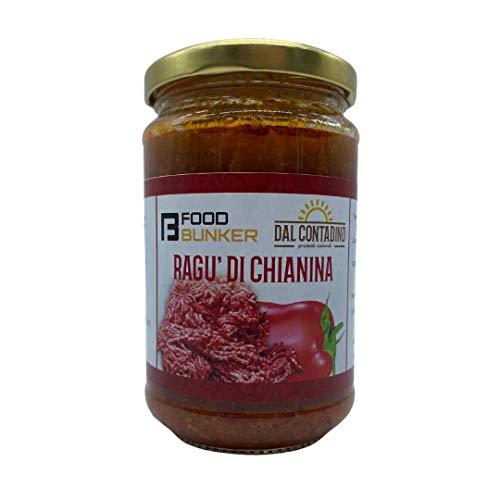 Food Bunker – Ragù di chianina toscana – Sugo pronto artigianale 330g – Carne bovina 100% italiana