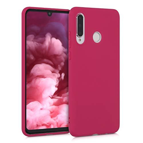 kwmobile Cover Compatibile con Huawei P30 Lite - Cover Custodia in Silicone TPU - Backcover Protezione Posteriore - Rosso Melograno