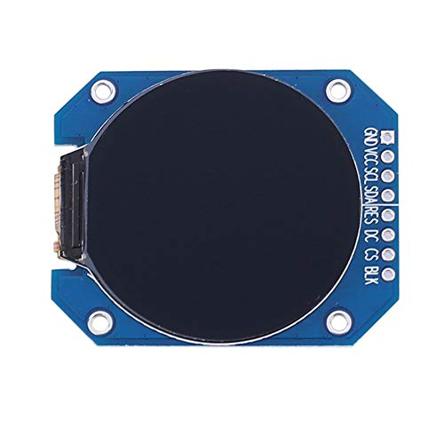 DC 3.3V 1.28 Inch LCD Display Module, RGB 240240 GC9A01 Driver SPI Interface 240x240 Resolution for Instrument Display, Mobile Devices and Display Equipment