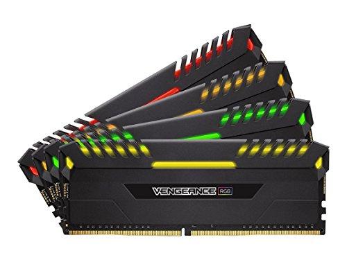Corsair Vengeance RGB - Kit de Memoria Entusiasta 32 GB (4 x 8 GB, DDR4, 3200 MHz, C16, XMP 2.0) Negro