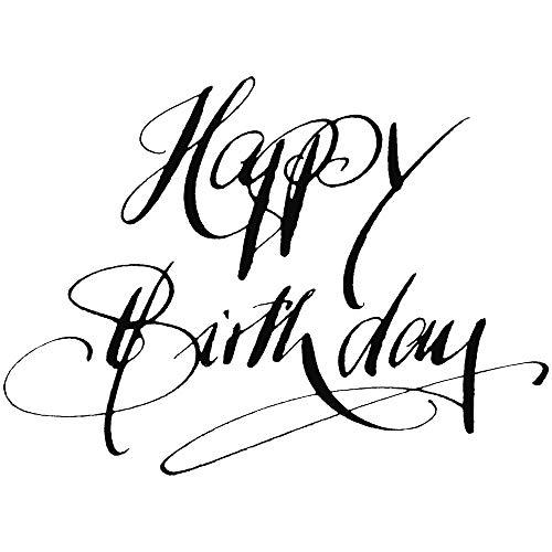 RAYHER 28479000, H.- Stempel Happy Birthday, 6 x 8 cm, Artikel 15910