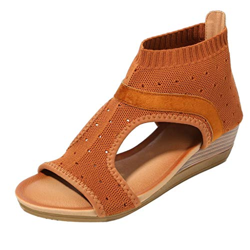 Find Cheap COPPEEN Women Sandals Women Ethnic Style Sandals Roman Shoes Platform Wedge Sandals Gladiator Shoes Brown