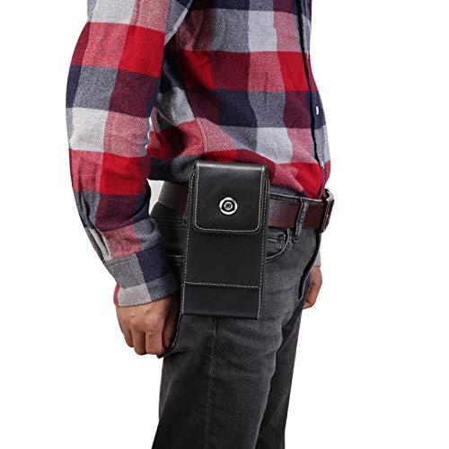 LICHONGGUI Textura de piel de cordero simple ocio de los hombres de cuero del caso universal del teléfono móvil paquete de la cintura con ranura para tarjeta, conveniente para los teléfonos inteligent