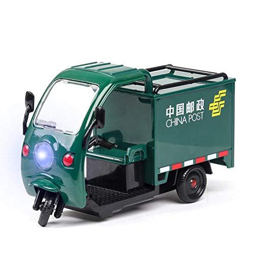 doudouTU Erwachsene Automodell 1:32 Hohe Simulation Sf China Post Express Auto Dreirad Kinderspielzeug Legierung Automodell Mit Ton Und Licht Kann Die Tür Öffnen Kleinwagen