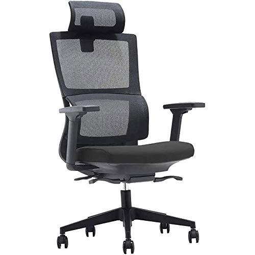 ZLQBHJ Sillas de escritorio de oficina, Silla de oficina silla de la computadora de escritorio silla ergonómica balanceo giratorio silla del acoplamiento de la ayuda lumbar reposacabezas abatible arma