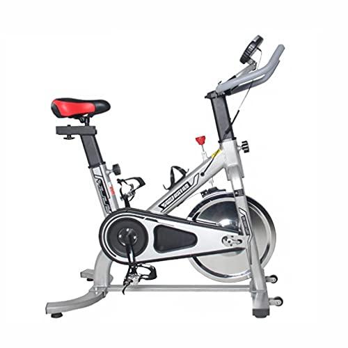 CGBF-Bicicleta Estática con Soporte para Teléfono con Monitor LCD,Bicicleta de Ejercicio Estacionaria Ciclismo en Interiores Entrenamiento Cardiovascular Vertical Inicio