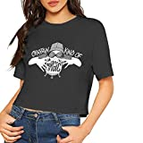 T Shirts for Women Clothing White Tshirt Cotton Crop Top Midriff Leisure Leisure Round Neck Short Sleeves Black for Girls