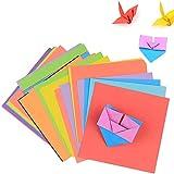 Papel de origami de Jingming, cuadrado, 100 unidades, 10 colores, para manualidades, Navidad, origami, manualidades y proyectos de manualidades