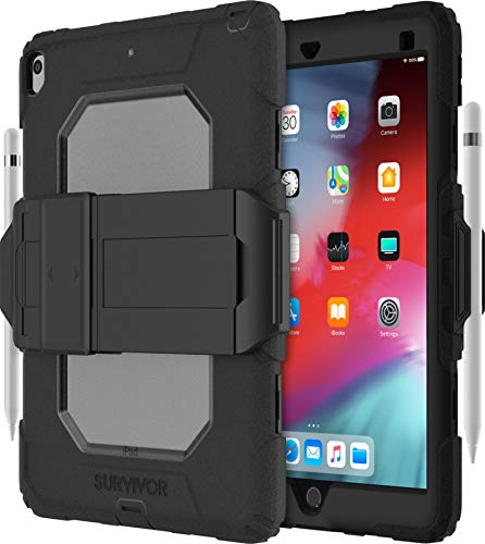 Survivor All-Terrain iPad Air 10,5' 2019 negro/oscuro con hand strap