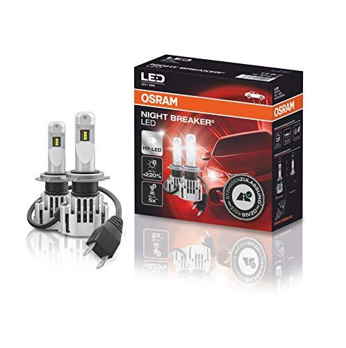 OSRAM NIGHT BREAKER H7-LED; bis zu 220 % mehr Helligkeit, erstes legales LED H7 Abblendlicht mit Straßenzulassung