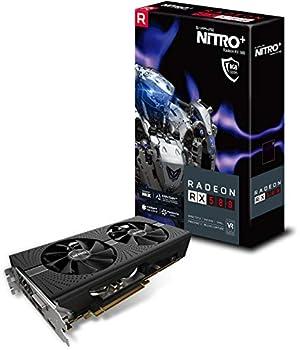 Sapphire 11265-01-20G Radeon NITRO+ Rx 580 8GB GDDR5 Dual HDMI/ DVI-D/ Dual DP with Backplate  UEFI  PCI-E Graphics Card