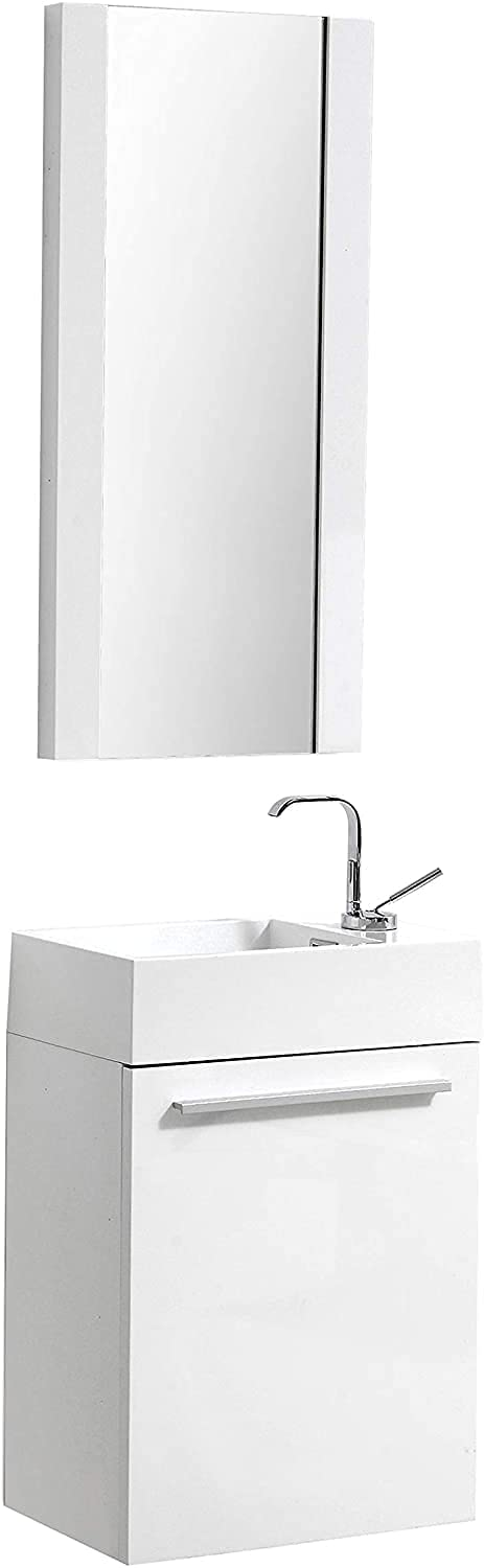 Ranking TOP15 18 Inch White Small Complete Free Shipping Bathroom Vanity Mirror Sink Narro with