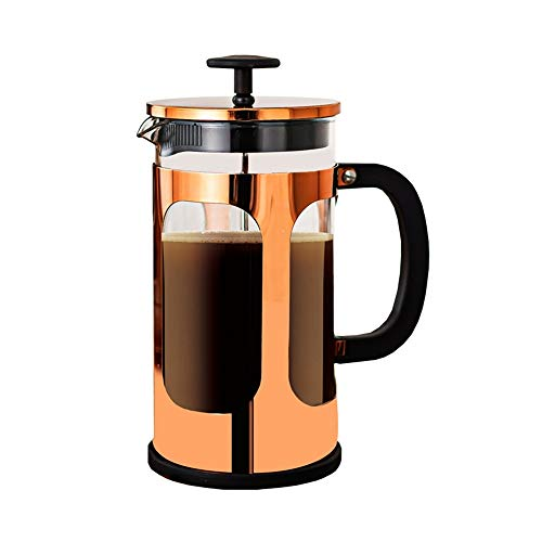 Vobajf Caffettiere a pistone French Press Pot Coffee Pot Preparazione del tè Mano Brewer Francese caffè Appliance cafetieres (Colore : Stainless Steel, Size : 1000ml)
