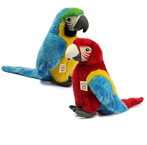 Papagei Ara versch. Farben Plüschtier Kuscheltier Stofftier Plüschpapagei 59 von Zaloop® (blau)