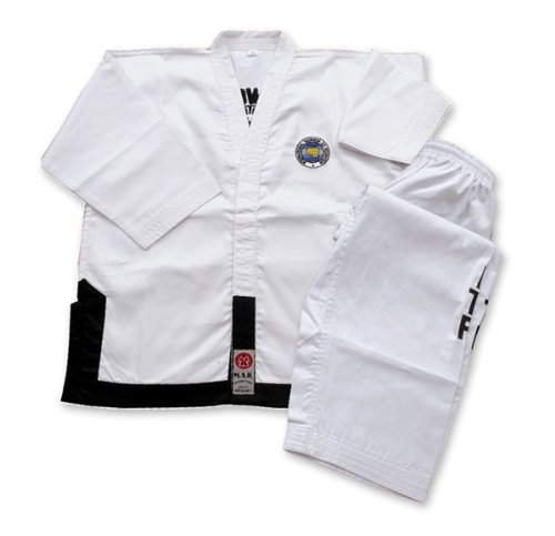 M.A.R International Itf Approved Taekwondo Uniform GI Suit Outfit Clothing Gear White 170CM