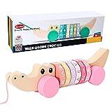 Arkmiido Juguete de Arrastre con Eje Digital para 1 año, Juguetes Bebes 1 año,Juguete Educativo para bebés y bebés, Juguete de Empuje para niños.Juguete de Madera para niños