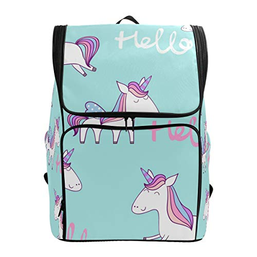 School Bags Magic Cute Hello Unicorn - Mochila para portátil