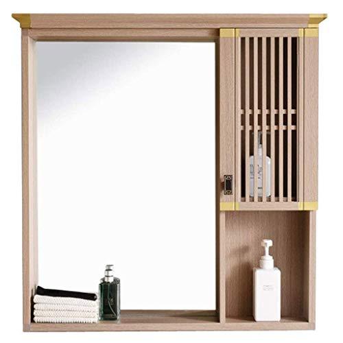 XCJJ Mueble de baño retro con espejo, lavabo montado en la pared/armario...