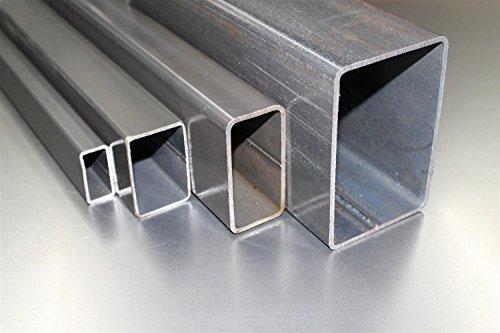 Rechteckrohr Vierkantrohr Stahl Profilrohr Stahlrohr 50x30x3 mm bis 3000 mm - Länge: 1500 mm
