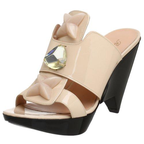 Robert Clergerie Women's Diama Jeweled Slide Sandal,Blush,7 B