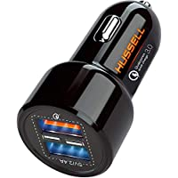 Hussell 5.4A 30W Dual USB Car Charger Adapter