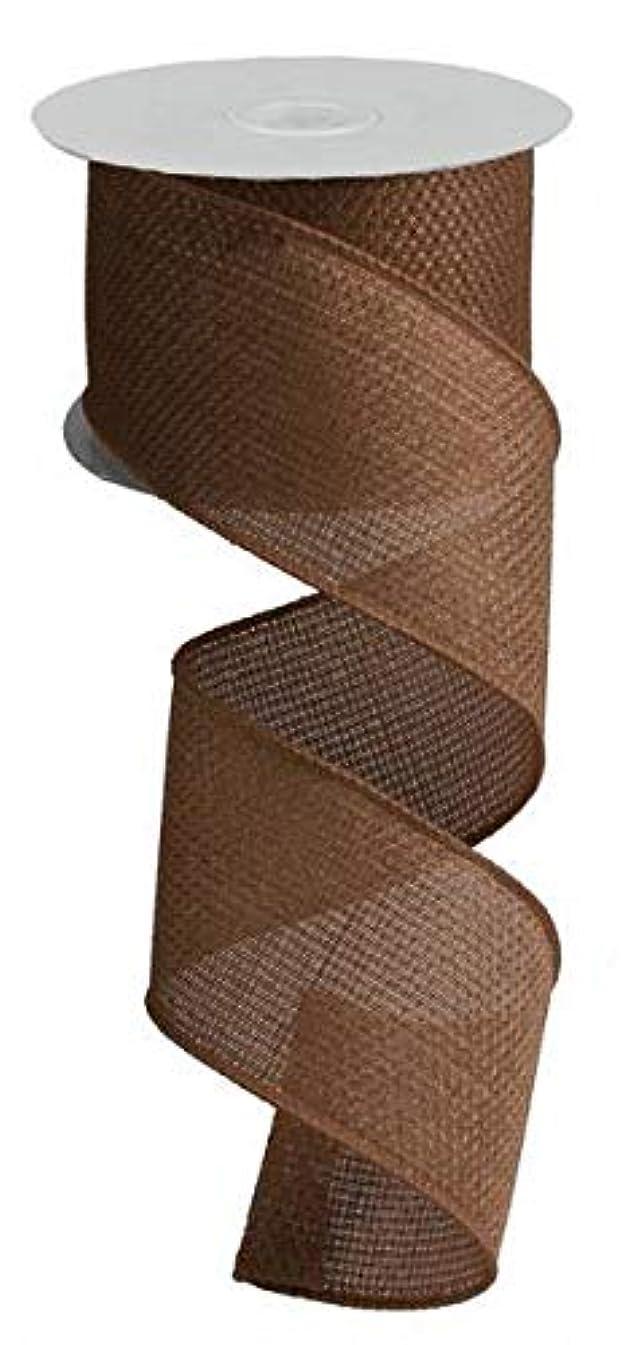 Cross Royal Burlap Wired Edge Ribbon - 2.5