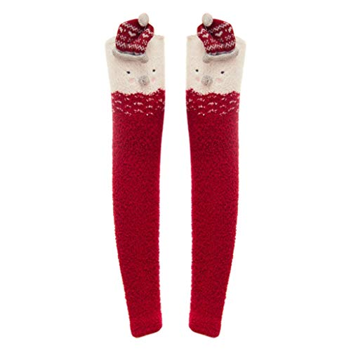 PPangUDing 1Paar Weihnachtssocken Stricksocken Damen Sexy Overknee Strümpfe lange Socken Compression Kniestrümpfe Herbst Winter Weiche Warme Einfarbig Gemütlich Sportsocken Schlafsocken