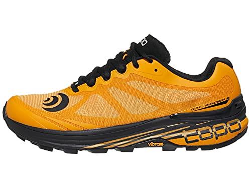 Topo Athletic MTN Racer 2 scarpe comode da corsa, leggere 5 mm, per trail running, Mango/Nero, 44 EU