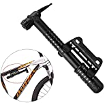 Bike Pump, Portable Air Pump Mini Bicycle Tire Pump, Super Fast Tyre Inflation, Bicycle Tire Pump for Road and Mountain Bikes, Football, Basketball - Easy to Carry
