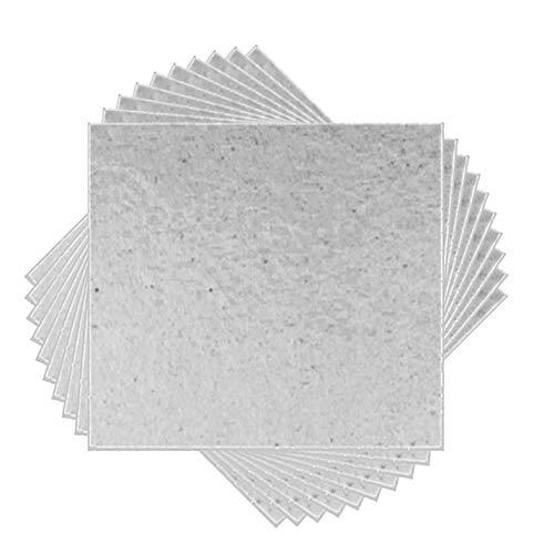 10pcs 5.1'x 5.1Horno de microondas reparación Mica Placas Hojas
