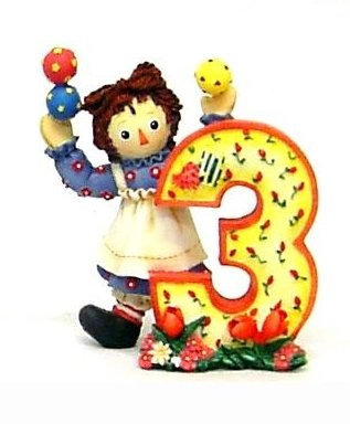 Raggedy Ann and Andy - Three Is A Happy Time For Me -  Enesco, 823724