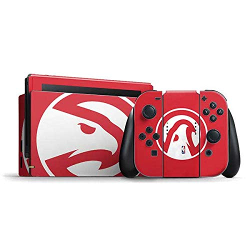 Skinit Decal Gaming Skin Compatible with Nintendo Switch Bundle - Officially Licensed NBA Atlanta Hawks Largo Logo Design